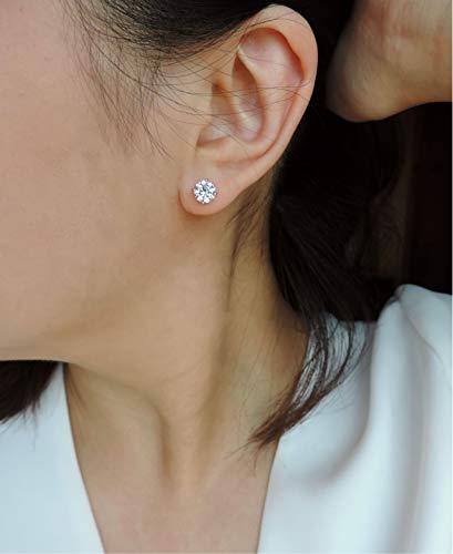 CZ 6mm Stud Earrings • Sterling Silver/Gold/Rose Gold High Quality Cubic Zirconia Studs,Diamond CZ Earring • Wedding Jewelry,Bridal Earrings