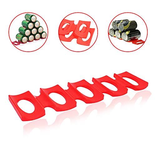 Apilador de latas de silicona plegable – Organizador de latas para nevera – Soporte para latas – Organizador de latas – Dispensador de latas – Organización y almacenamiento de refrigerador – clóset y almacenamiento de nevera