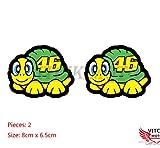 VITCIK Decalcomanie adesive per casco da moto per moto da corsa decalcomanie in vinile con logo (46)