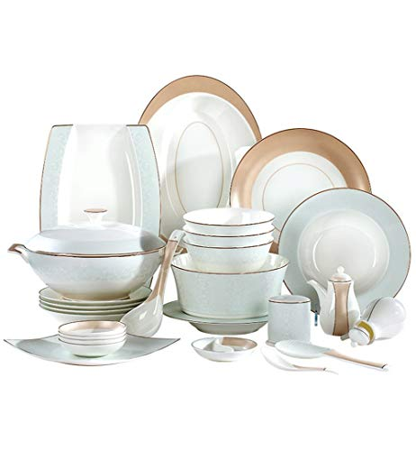 ASYCAN Porcelana Bone China Porcelana de vajilla 50-pc Banquete de vajilla, de Hueso China Vajilla, Servicio for el 10...