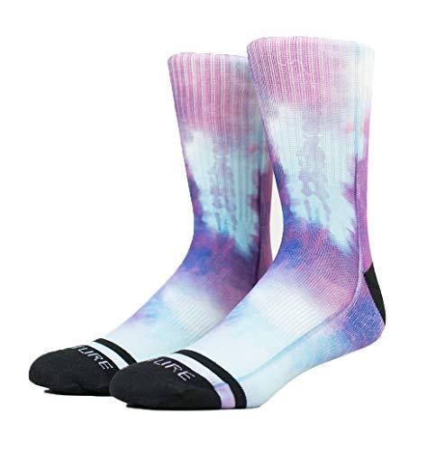 Venture Socks Purple Rain Tie Dye - Gym Fitness Skateboard WOD bianco 42/46 EU