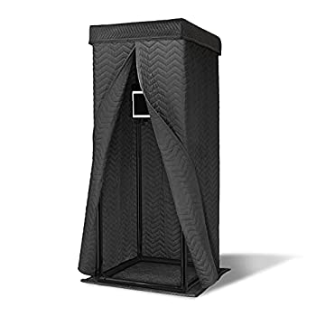 Snap Studio Ultimate Vocal Booth — Portable Pop Up Home Studio for Voice Recordings — Unique 360 Degree Reverb Isolation Shield & Easy Set Up — #1 Recommended