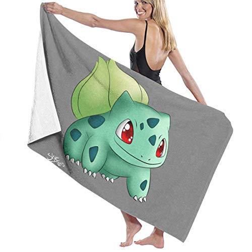 Zachary Sherman badhanddoek Pokemon Bulbasaur patroon zeil zee douchehanddoek handdoek antibacterieel absorberend zacht van hoge kwaliteit 130 x 80 cm
