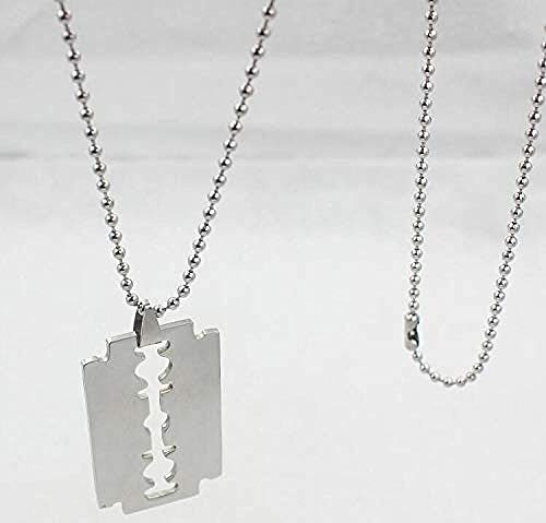 PPQKKYD Necklace (Layered Chains Hiphop Punk Stainless Steel Padlock Necklace Men 岩石 锁 片 Necklaces for Women