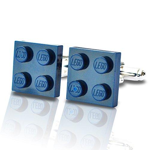 LEGO-Manschettenknöpfe, z.B. zur Hochzeit, Herren-Geschenk, dunkelblau