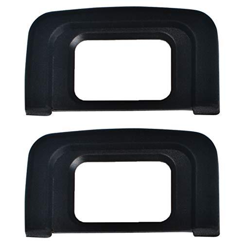VKO Augenmuschel Okularmuschel Okular geeignet für Nikon D5600 D5500 D3500 D3400 D3300 D3200 D3100 D3000 D5300 D5200 D5100 D5000 Kamera sucher Ersetzt Sie DK-25 (2 Stück)