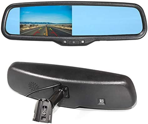 EWAY Car Interior Backup Rear View Anti Glare Mirror Built in LCD 4 3 Monitor Replacement with product image