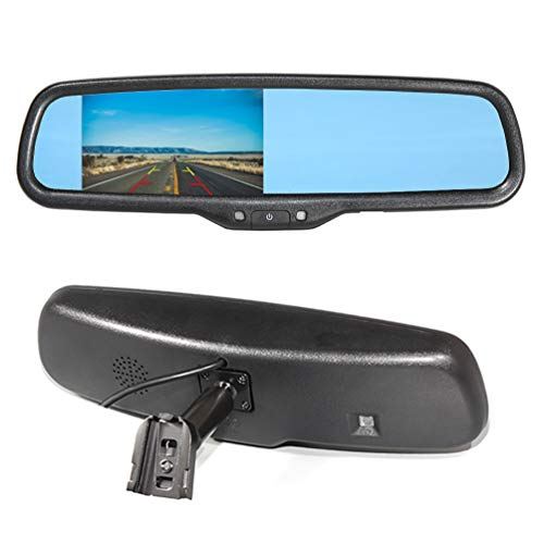EWAY Car Interior Backup Rear View Anti-Glare Mirror Built in LCD 4.3
