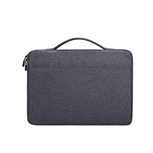 KLFD Waterproof Oxford Cloth Laptop Bag with Handle Lightweight Portable Messenger Bag Wear-Resistant Notebook Bag Multifunction Home Office Briefcase Multiple Compartments,Dark gray,13.3 inches