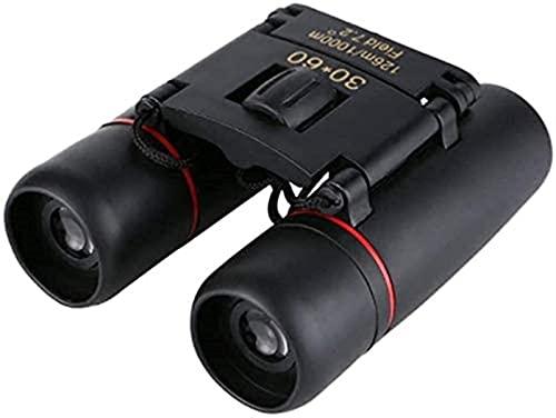 WSMKSZ Telescopio para Adultos, binoculares, binoculares, 30 x 60 de Alta definición, Poca luz, cómodo, fácil de Llevar, Excelencia Funcional