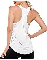 Promover Dames Sport Tanktop Losse Racerback Fitness Yoga Tops Ademend Mouwloze Shirt