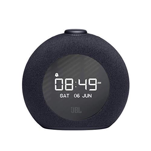 JBL Horizon 2 Altavoz, radio DAB/DAB+/FM despertador con Bluetooth en diseño redondo y con luz LED ambiental, color negro
