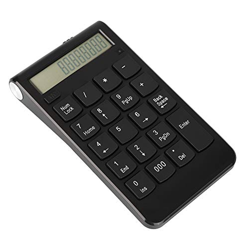 Mavis Laven Teclado numérico USB Mini Teclado numérico 2.4G Teclado inalámbrico 29 Teclas Número Teclado con Pantalla LCD para computadora de Escritorio portátil Pro