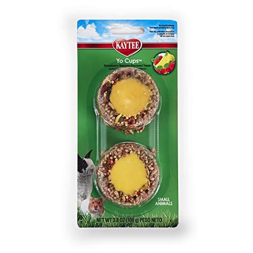 Kaytee Fiesta Tasse à Yaourt goût Fraise Banane pour Petits Animaux, 107,7 g