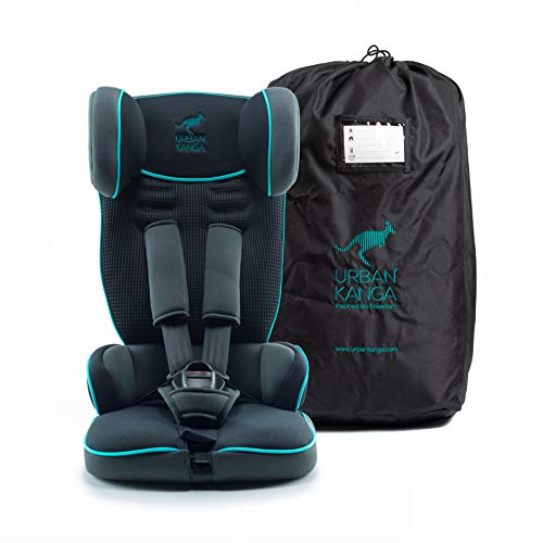 Urban Kanga Travel Car Seat Portable and Foldable Group 1 for 9-18 Kg Uptown (TV107) (Castor Grey/Teal)