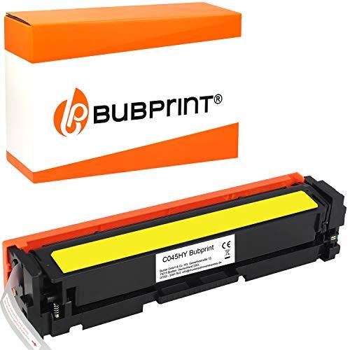 Bubprint Kompatibel Toner als Ersatz für Canon 045H 045 H 045HY 1243C002 i-Sensys LBP611CN LBP612CDW LBP613CDW MF631CN MF632CDW MF633CDW MF634CDW MF635CX Gelb