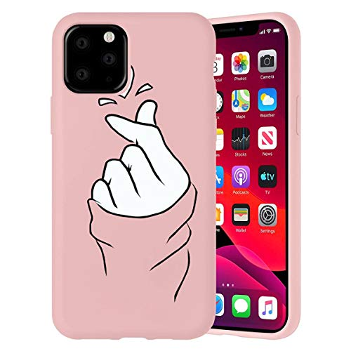Eouine for iPhone 12 Pro Max Case, Phone Case Silicone Pink with Pattern Ultra Slim Shockproof Soft Rubber Girl Women Cover Bumper Skin for iPhone 12 Pro Max Smartphone, 03