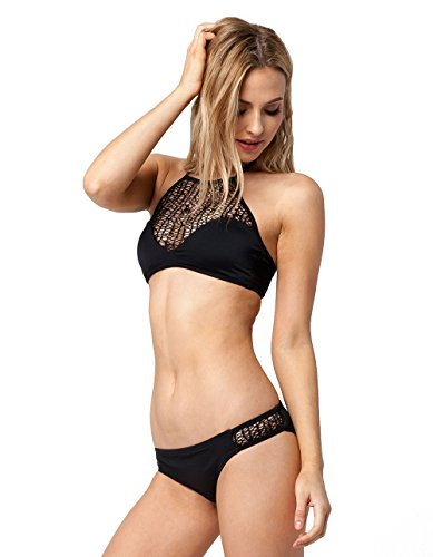 Reef Damen Latigo Tab Side Pant Bikini Bottom Bikinihose, Schwarz (Black Blk), 36 (Herstellergröße: XS)