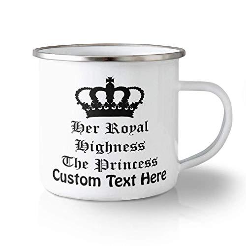 N\A Taza de Viaje irrompible Personalizada 10 onzas Su Alteza Real la Princesa Taza de té de Aluminio Texto Personalizado aquí