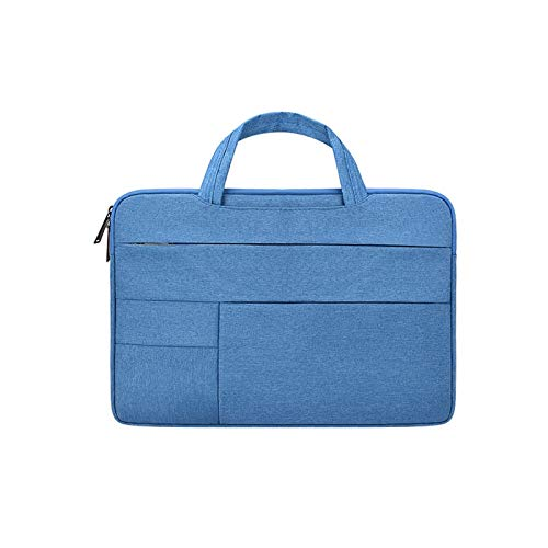 YNLRY Bolsa para portátil para MacBook Air Pro 11, 13, 15, 17 pulgadas, multifunción, impermeable, para portátil Dell HP, Acer Xiaomi Lenovo (color: azul, tamaño: 11.6 pulgadas)