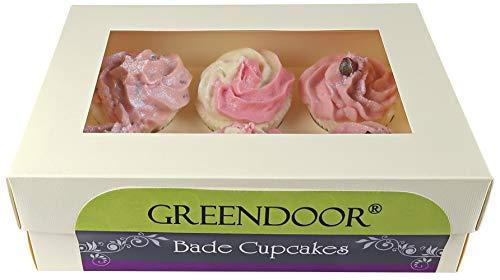 Set Greendoor Badecupcake Frozen Rose, Geschenkkarton 6 Badecupcakes für 6 Cremebäder, Ostern Geschenke
