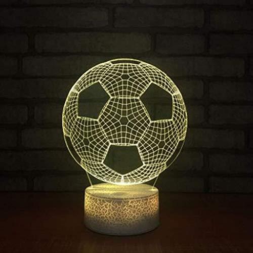 QIURUIXIANG - Luz de noche de fútbol, lámpara LED toque creativo color, acrílico 3D dormitorio dormitorio noche noche escritorio QI415