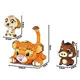 JJWW 3 in 1 Nano Bricks, Animal Building Block Educational Toy Set - Cute Cartoon Animal Lion Wild Boar 3D Construction Model, Birthday Gifts