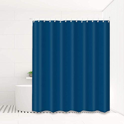 Sylanda Duschvorhang Anti-Schimmel, Duschvorhänge, Textil Bad Vorhang aus Polyester fürs Badezimmer, Waschbar, Wasserabweisend, mit Ringen zur Befestigung an der Duschstange, 180 x 180cm