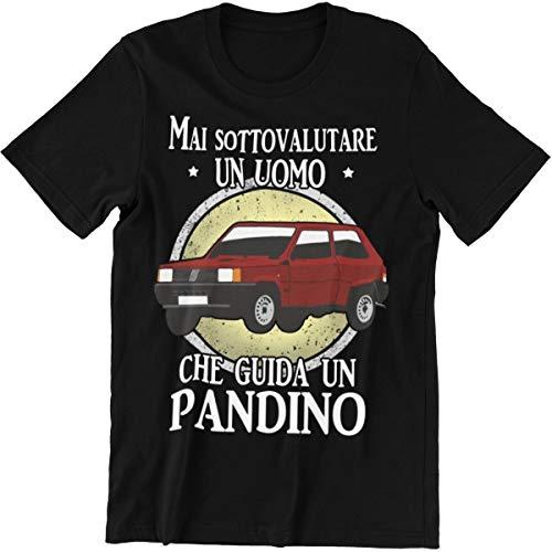 Vulfire Maglietta Mai Sottovalutare Un Uomo Che Guida Un pandino (Nero, M)