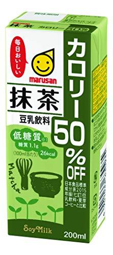 マルサン 豆乳飲料 抹茶 カロリー50%オフ 200ml×24本 紙パ...