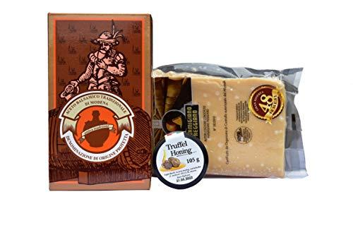 Gourmet Italiaanse Delicatessen Box - Parmigiano Reggiano DOP 40+, Modena Balsamic Azijn