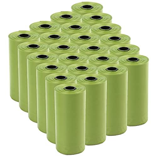 360 Bolsas caca perro Biodegradables Perfumadas,Bolsas Biodegradables Perfumadas para Excrementos perros,gatos, mascotas. Fuertes, Resistente a Fugas, Perfumada.(color verde)