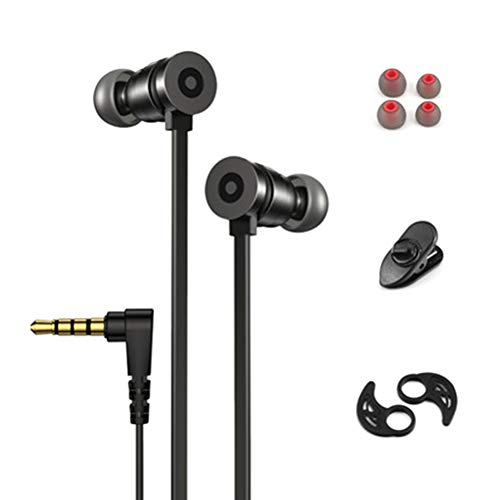 Gaming Earphones, Wired in-Ear Headphones with Microphone, 90° Design, Volume Control, Comfortable to Use, 3.5mm Headphones for PC Laptop Cellphones Gaming