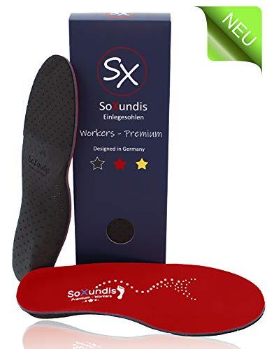 Einlegesohlen Fersensporn SOXUNDIS Workers – Einlagen Arbeitsschuhe mit Fußbett – weiche, orthopädische Schuheinlagen – Einlage Schuhe für Damen & Herren S