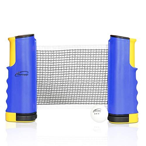 Best Bargain CWYPC Table Tennis Net, Retractable Ping Pong Net Portable Table Tennis Net Rack Instan...