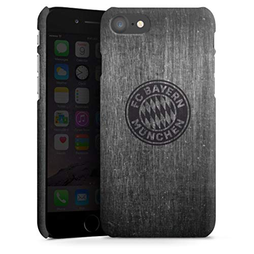 DeinDesign Premium Case kompatibel mit Apple iPhone 8 Smartphone Handyhülle Hülle matt Metallic Look FCB FC Bayern München