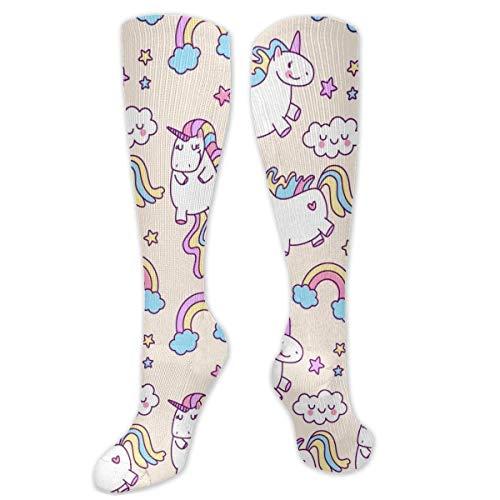 Jessicaie Shop Calcetines de unicornio de colores para hombres y mujeres, mejor ajuste atlético graduado para correr, enfermeras, férulas de espinilla