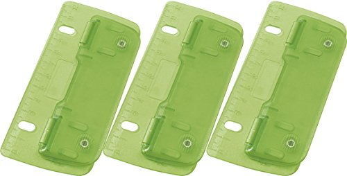 Wedo 67809 2fach Taschenlocher (Kunststoff zum Abheften für 8 cm Lochung, mit 12 cm Skala) (3, ICE-grün)