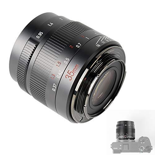 7artisans 35mm F0.95 Kameralinse APS-C MF Objektiv kompatibel mit Fuji X Mount Kameras X-A1 X-A10 X-M1 X-M2 X-H1 X-T1 X-T10 X-T2 X-T20 X-T3 X-T4 X-T100 X-T200 X-PR01 XS10 and More.