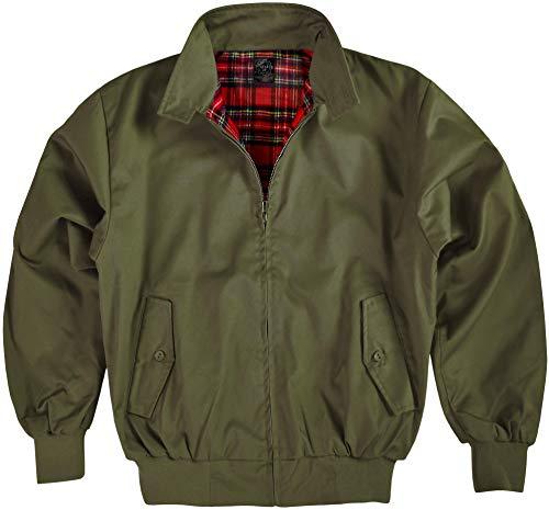 Original GearUp® Harrington Jacke English Style in 12 verschiedenen Designs wählbar Farbe Oliv Größe L