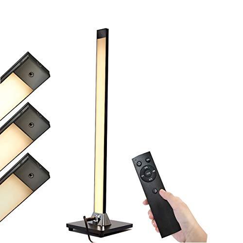 Stehlampe LED Dimmbar mit Fernbedienung HENZIN 8W Augenschutz Leselampe,5 Helligkeitsstufen,3000K,Touch-Bedienung,480 Lumen,LED Stehleuchte für Wohnzimmer Schlafzimmer,Büro,Schwarz