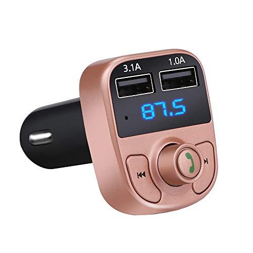 BBX Kit Mains Libres sans Fil Bluetooth pour Voiture Transmetteur FM Lecteur MP3 Double Chargeur USB