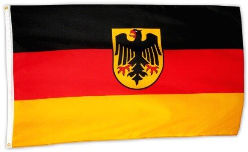 Fahne Flagge Deutschland mit Wappen 90 x 150 cm