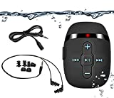 SEWOBYE Waterproof MP3 Player for Swimming and Running,Underwater Headphones with Short Cord, Shuffle