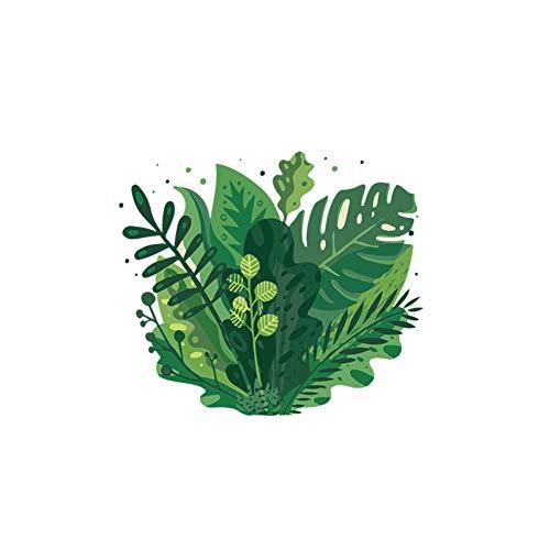 GSYZDCSTZ 3 stks 23 * 19.9CM hand getekend platte planten Childern kamer muur Sticker toiletbril Stickers