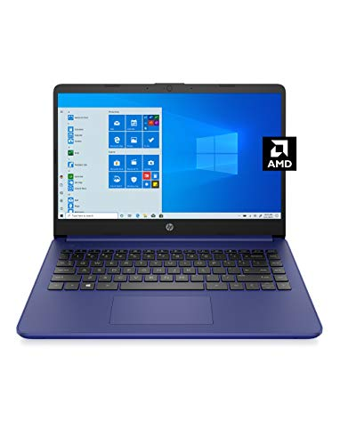 HP 14 Laptop, AMD 3020e, 4 GB RAM, 64 GB eMMC Storage, 14-inch HD Display, Windows 10 Home in S Mode, Long Battery Life, Microsoft 365, (14-fq0010nr, 2020)