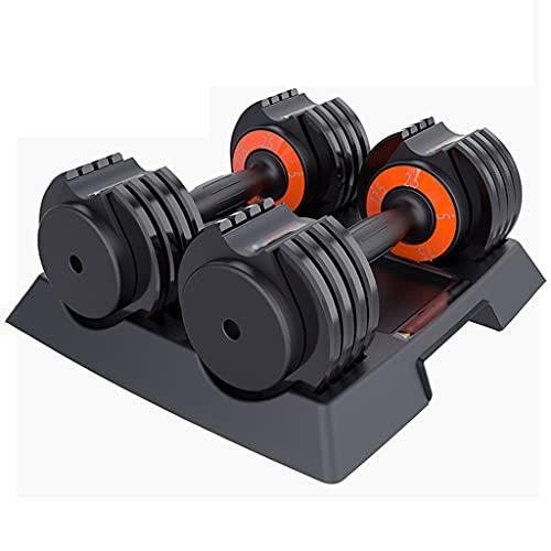 DXIUMZHP Hanteln Smart Fitness Hantel Männer Verstellbares Gewicht Haushalt Hantel Rack Set Einzelpaar Übungsarm Muskel 2,5-30 Lbs (Color : Black-1)