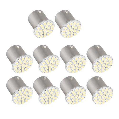 10X 1156 BA15S P21W 1073 1206 SMD 22 LED Ampoule Feux Lumière Blanc Pour Voiture