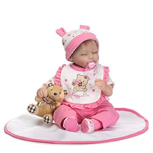 SXFYGYQ Cute Vinyl Silicone Twin Doll Realista Baby Rebirth Doll Alrededor de 40 Cm Juguete de iluminación Infantil Regalo de bebé