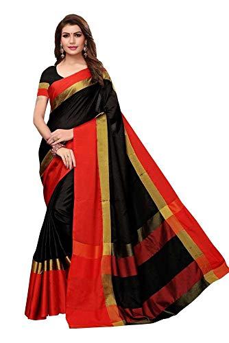 Indische Bollywood Hochzeit Saree indische ethnische Hochzeit Sari Neue Kleid Damen lässig Tuch Geburtstag Ernte Top Mädchen Frauen schlicht traditionelle Party Wear Readymade Kostüm (Black2)